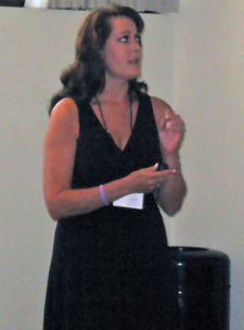 Lisa Moss at a TBI presentation